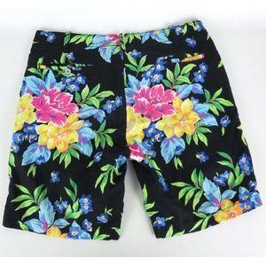 Polo Ralph Lauren Sz 34 Floral Shorts Linen Cotton